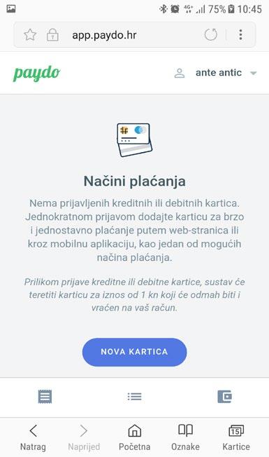 web mjesto za plaćanje